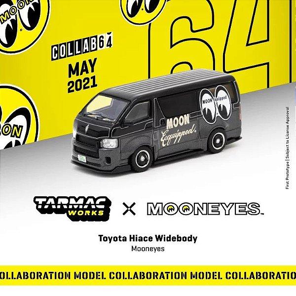 Toyota Hiace Widebody Moon Eyes black matte - 1:64 - TARMAC WORKS