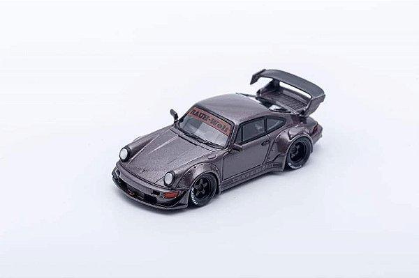 Porsche 930 RWB Maverick marrom - 1:64 - PC Club