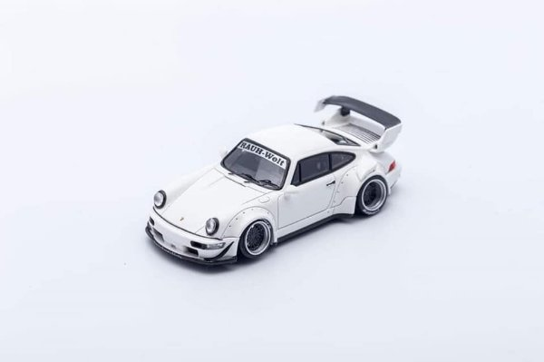 Porsche 930 RWB Branco - 1:64 - PC Club