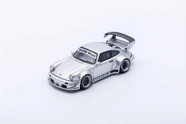 Porsche 930 RWB Prata Ginga - 1:64 - PC Club