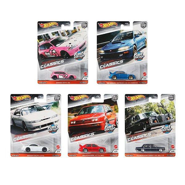 Set Car Culture Modern Classics 5 carros - 1/64 - Hotwheels