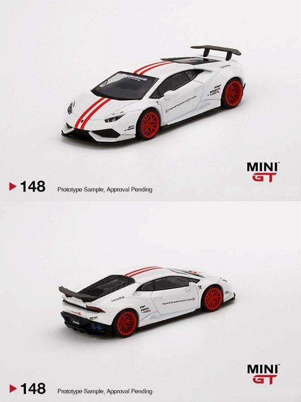 Lamborghini Huracán liberty walk branca - 1:64 - Mini GT