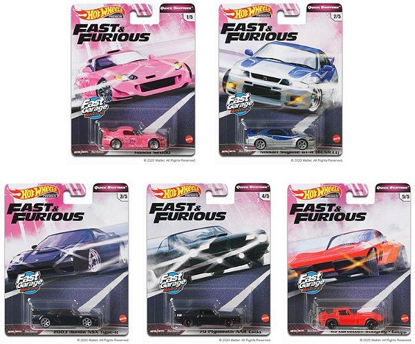 Set Velozes e Furiosos Quick Shifters 5 carros - 1/64 - Hotwheels