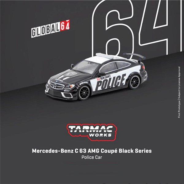 Mercedes-Benz C63 AMG Coupé Black Series Police - 1:64 - TARMAC WORKS