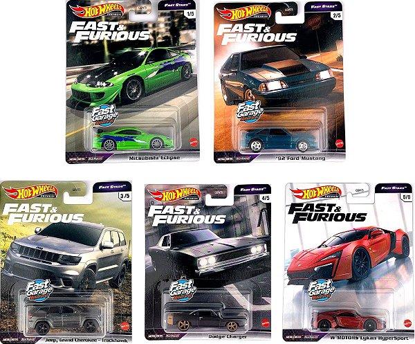 Set Velozes e Furiosos Fast Stars 5 carros - 1/64 - Hotwheels