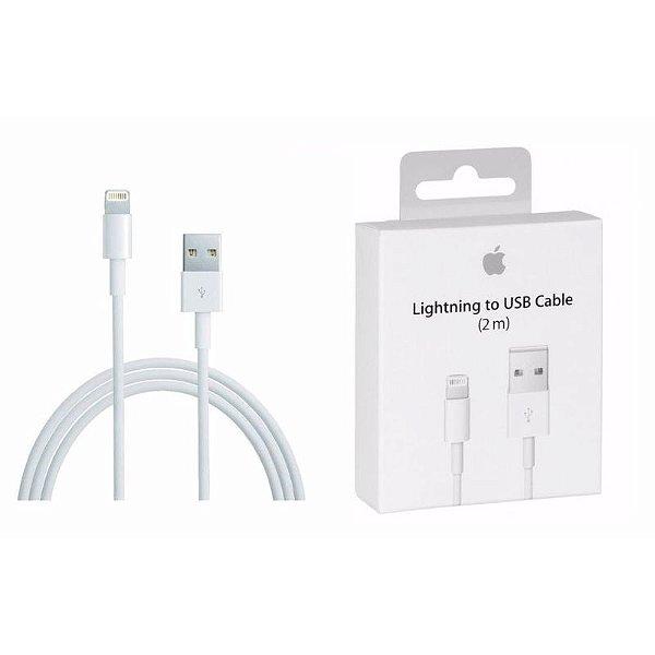 Cabo USB Lightning iPhone iPad 5 5s 6 6s 7 8 Plus X Xs Xr 11 12 Pro Max 2 Metros