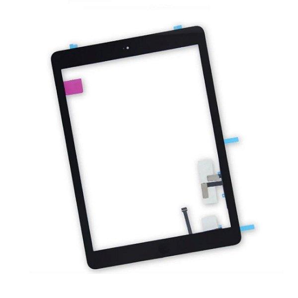 Tela Touch Vidro iPad 5 Air A1474 A1475 A1476 Preto