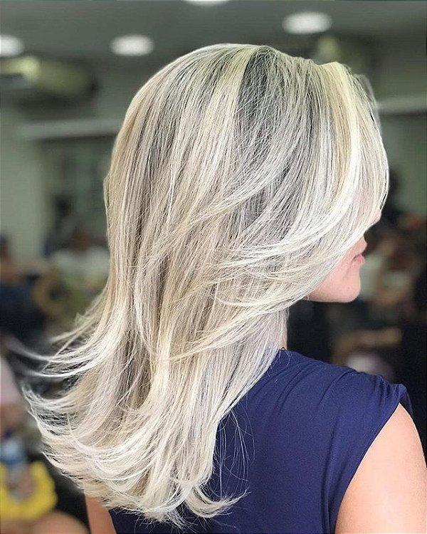 Ombre Hair + mechas contorno + escova