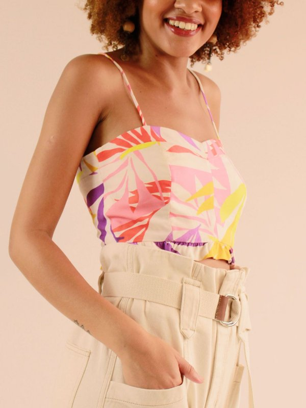 CROPPED FLORAL COLOR