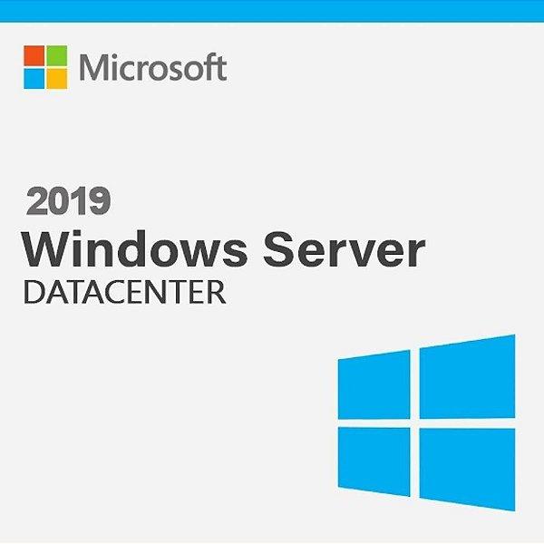 Licença Microsoft Windows Server 2019 DATACENTER 16 CORE 9EA-01045-19 ESD