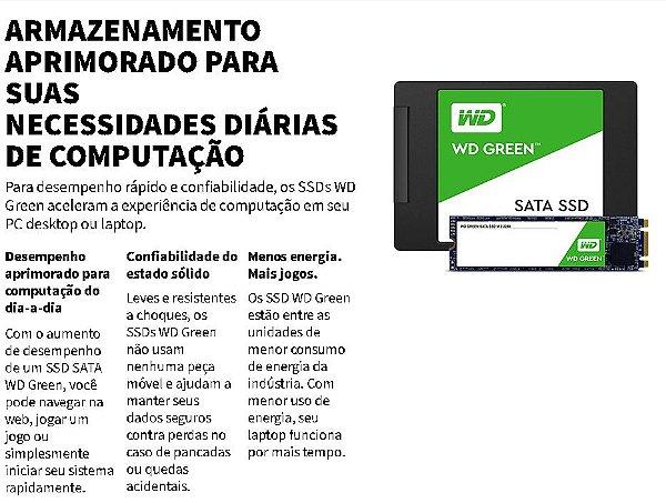 SSD WD Green 120GB / 240GB SATA e M.2 2280 - Só Escolher o Seu