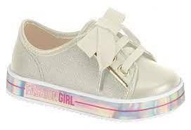 Sapato Casual Bb/np Lona Gliter Bco