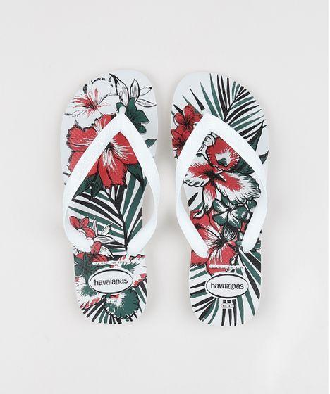 Chinelo Havaianas Aloha Fc Branco