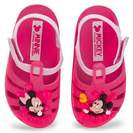 Sandalia Disney Sunny Bab Rosa Neon/