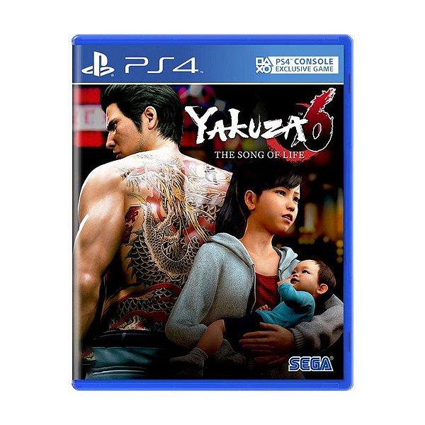 Jogo Yakuza 6 Song OF life - PS4 Novo