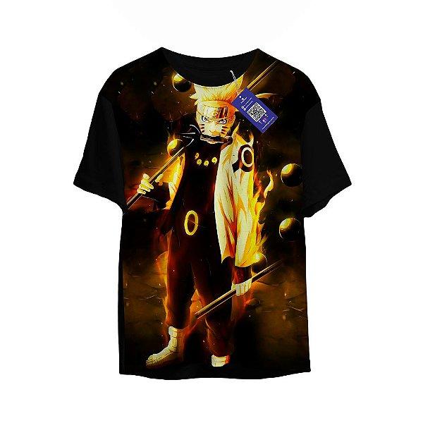 Camiseta Naruto - Naruto Modo Kurama