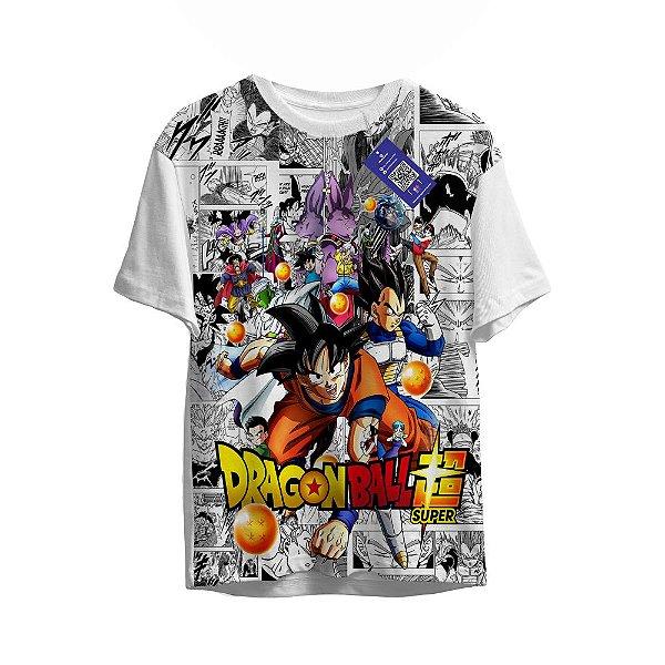 Camiseta Dragon Ball - Goku e Personagens