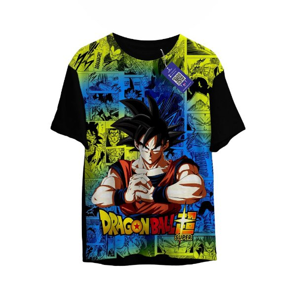 Camiseta DragonBall Super - Manga Colorido