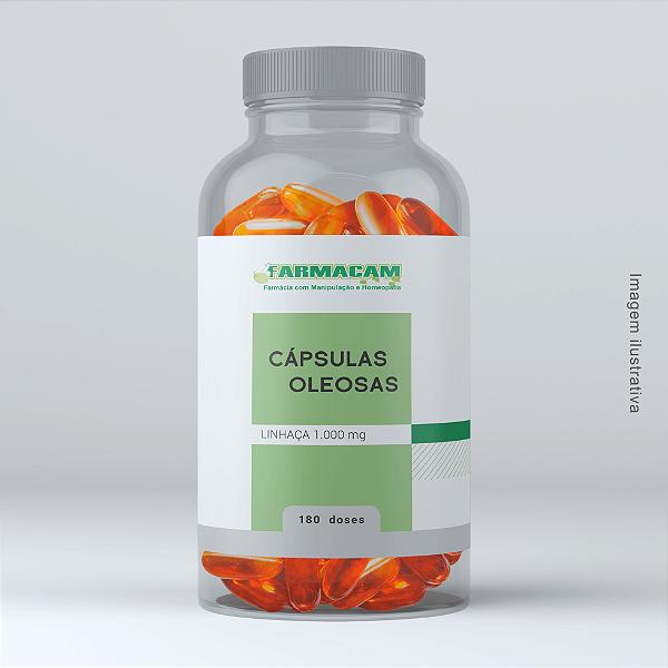 Cápsula Oleosa de Linhaça 1000 mg