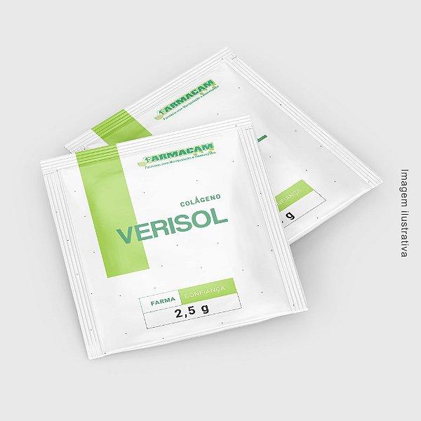 O colágeno verisol é uma combinação de peptídeos bioativos de colágeno aproveitados de uma enzima patenteada e é indicado para melhorar a qualidade da pele e reduzir os efeitos do envelhecimento