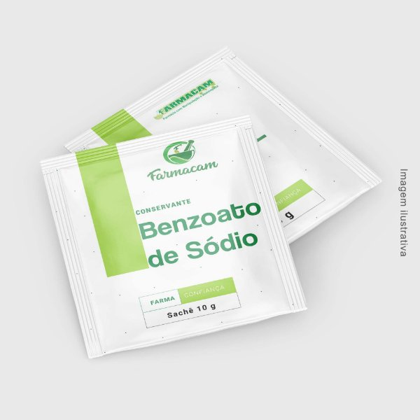 Benzoato de sódio - conservante - Sachê 10 g