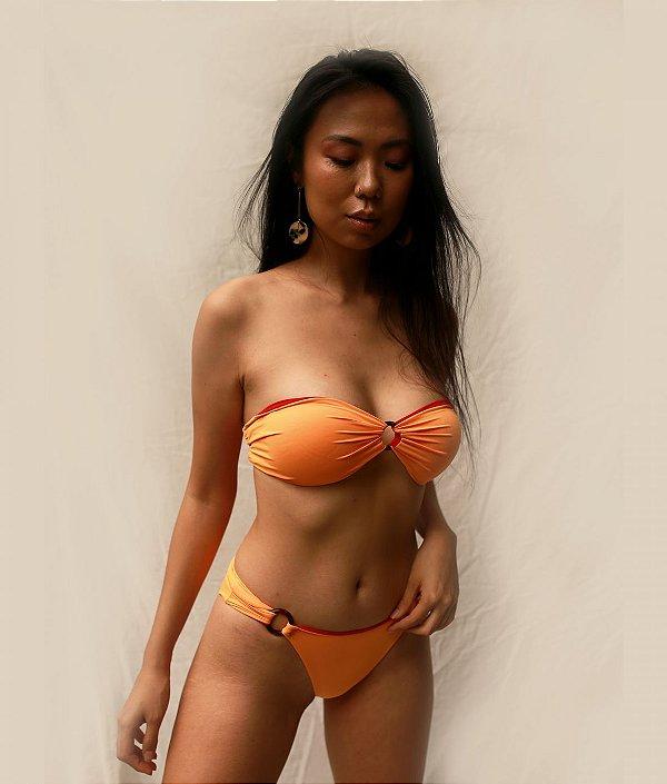 Biquíni Kika vermelho e laranja