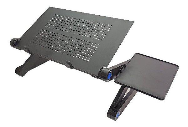 Suporte De Cama Com Mousepad Para Notebook Preto