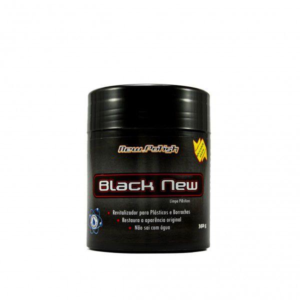 Black New revitalizador de plasticos e borrachas New Polish