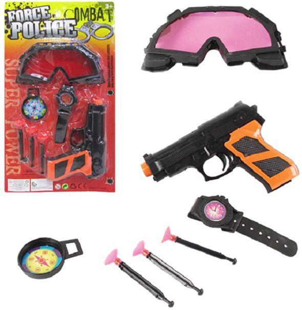 Kit Força Policial Combate Detetive Espião Infantil Kids