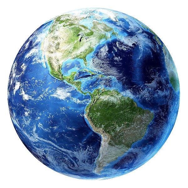Quebra Cabeça Redondo Planeta Terra 500 peças Kids