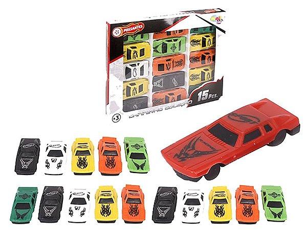Kit c/ 15 Mini Carros Carrinho Corrida Possantes Colecionável