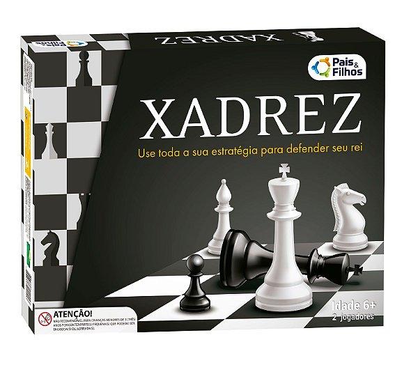 Jogo Xadrez Gambito Tabuleiro Estratégico Infantil