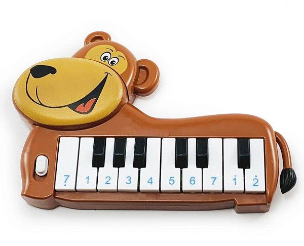 Teclado Piano Musical Urso Zoo Animais Infantil