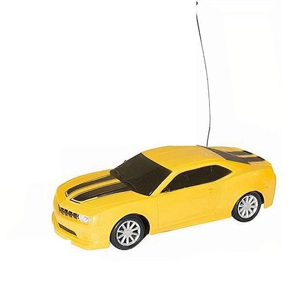 Carrinho Controle Remoto Sem Fio Esportivo Amarelo Well