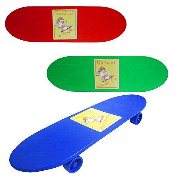 Super Skate Radical Colorido Plástico 4 Rodas Brinquedo