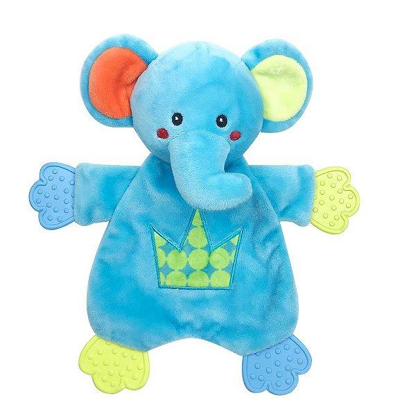 Elefante Azul Fofy Sensorial Tátil e Sonoro Infantil Kids