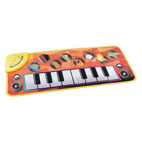 Teclado Musical com Luz e 8 Notas Musicais Kids Infantil