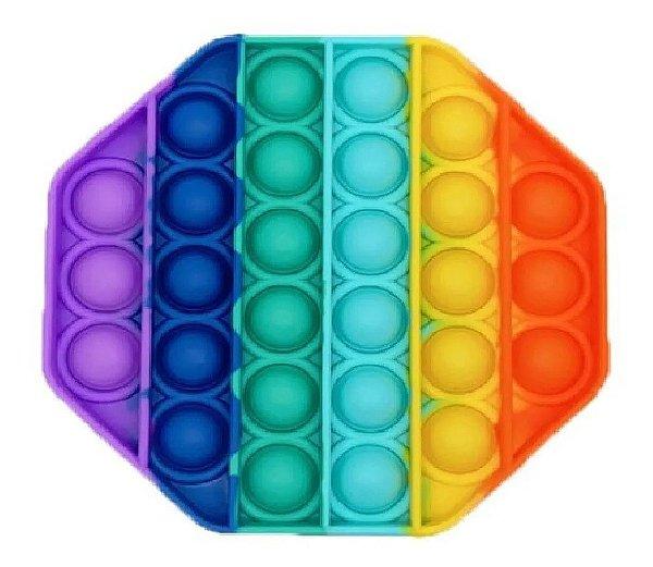 Brinquedo Pop It Octógono Fidget Anti Stress Spinner
