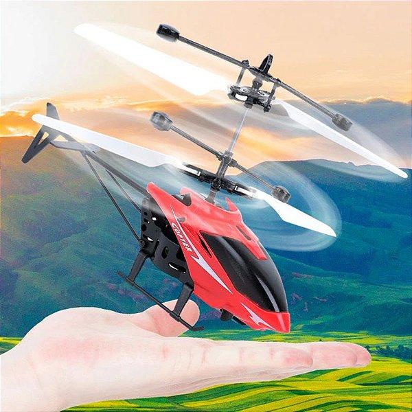 Mini Helicóptero Drone com Luz Sensor de Movimento Kids