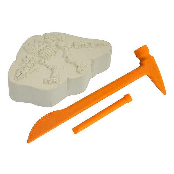 Kit Escavação Dinossauro + Picareta e Ferramentas Escavador