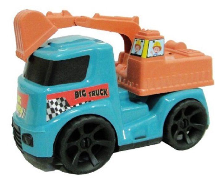 Caminhão RETROESCAVADEIRA 18cm Caminhãozinho de Plástico Colorido