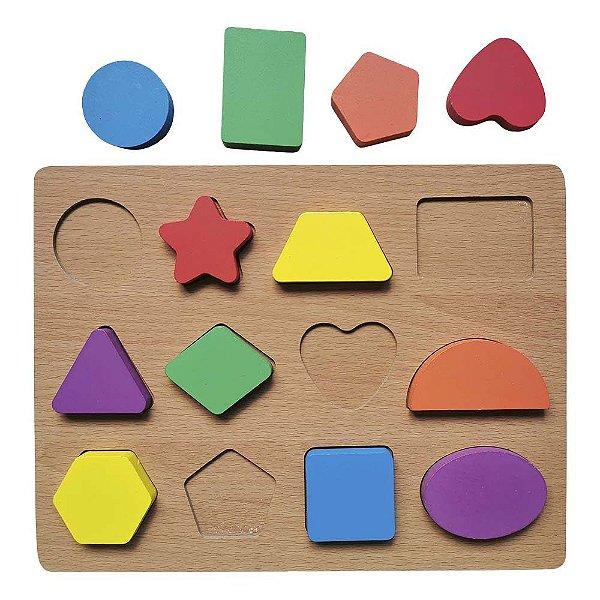 Tabuleiro Cores e Formas Aprenda Brincando Didático