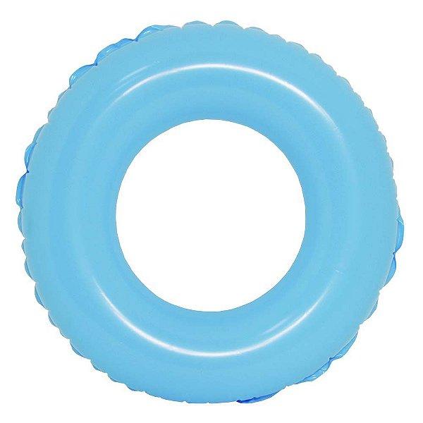 Boia de Cintura Infantil Colors Azul 60 cm Praia Piscina Pool Party