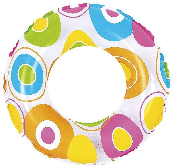 Boia Circular Infantil Colors Estampada Diversão Piscina Pool Party