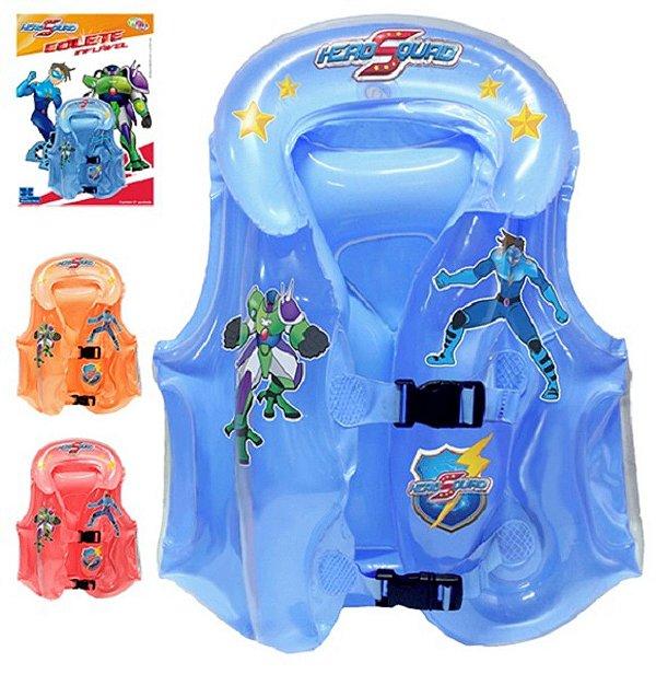 Boia Colete Infantil Inflável Hero Squad CORES Pool Party