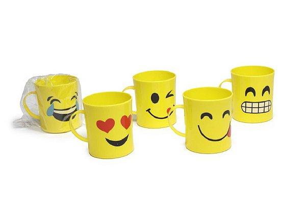 Caneca Emoticon Escolar de Plástico Sortida Kids Beby