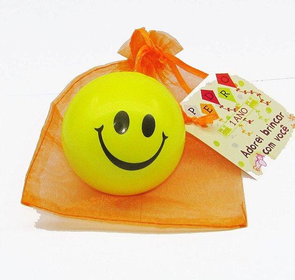 Bolinha Amarela Smile Massagem Apertar Bem Estar Anti Stress