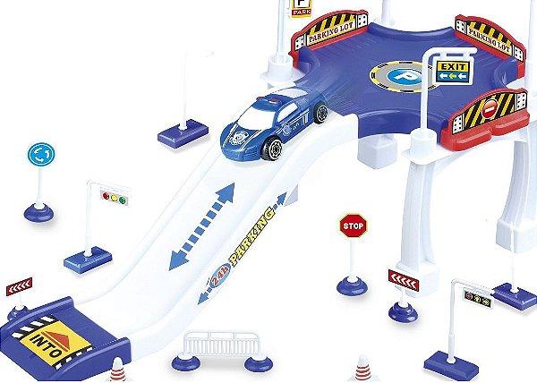 Estacionamento e Rampa de POLÍCIA Brinquedo Divertido