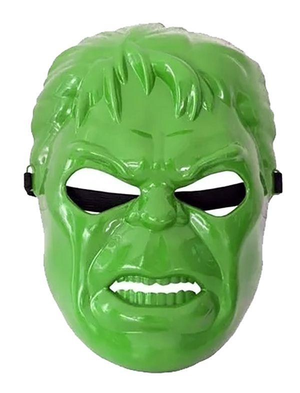 Máscara Hulk com Elástico Herói Verde de Plástico