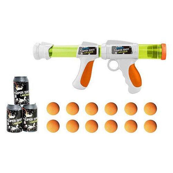 Bazuca Super Shot com 12 Bolas e 3 Alvos Kit Policial Brinquedo